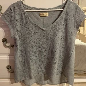 Beautiful Gray Top by Hollister